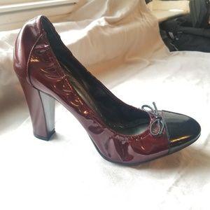 Chuck heel merlot heels. BCBG girls